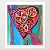 Pulling Down The Heart B… Art Print
