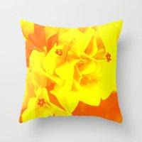 Ali Orange Throw Pillow