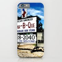 iPhone & iPod Case featuring Pecan Smoked BBQ, Louisiana  by istillshootfilm