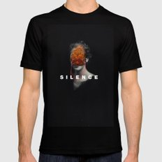 Silence SMALL Mens Fitted Tee Black