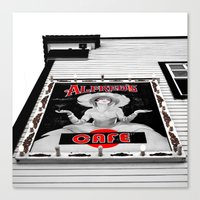 Canvas Print featuring Classic cafe sign by Vorona Photography