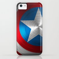 iPhone 5c Cases featuring Captain America by Kosept