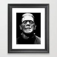 Frankenstien Framed Art Print