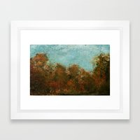 Late Summer Trees Framed Art Print