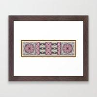 Misty Roses Framed Art Print