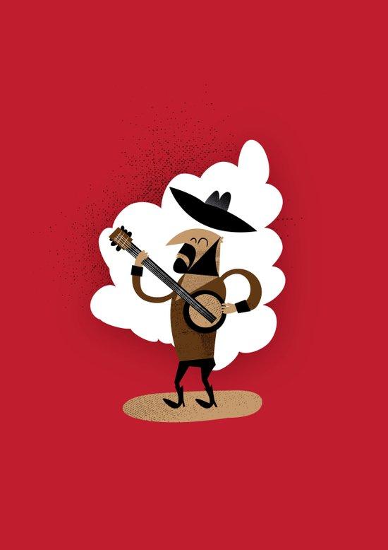 Johnny Banjo and his Banjo Art Print