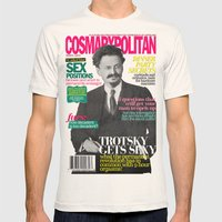 COSMARXPOLITAN, Issue 8 Mens Fitted Tee Natural SMALL