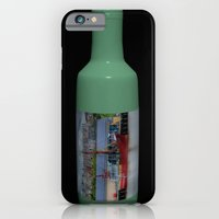 Ship in a Bottle on Black iPhone 6 Slim Case