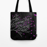Bird Leaves Tote Bag