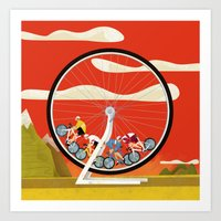 Road Cycling Race Hamste… Art Print