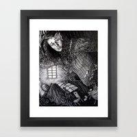 Alice in the Rabbit's House Framed Art Print