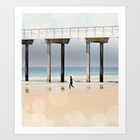 Boardwalk 1 Vertical Art Print
