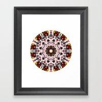 Donkey Flower Kaleidosco… Framed Art Print