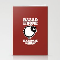 Baaadass the Sheep: Baaad to the Bone Stationery Cards