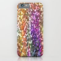 iPhone Cases featuring Rainbow Mosaic by Judy Palkimas