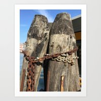 Grand Canal In Chains Art Print