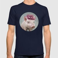 Miss Piggy Mens Fitted Tee Navy SMALL