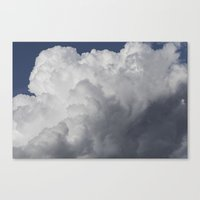Cotton wool Clouds Canvas Print