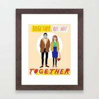 Together But Not Togethe… Framed Art Print