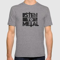Listen to Metal Mens Fitted Tee Athletic Grey SMALL