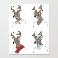 Seasonal Deer Canvas Print