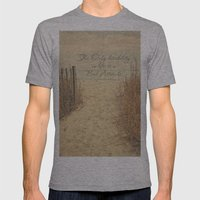 The Only disability in life..... Mens Fitted Tee Athletic Grey SMALL
