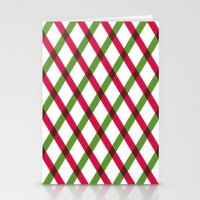 Holiday Ribbon Pattern Stationery Cards