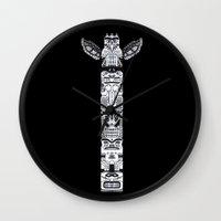 The Totem Wall Clock