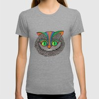 Alice´s Cat Wood Womens Fitted Tee Tri-Grey SMALL