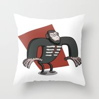 Caesar - Dawn of the Planet of the Apes Cartoon Throw Pillow