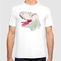 JURASSIC PARK Mens Fitted Tee White SMALL