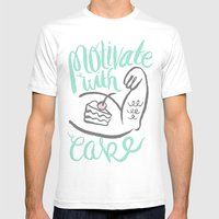 Motivate With Cake Mens Fitted Tee White SMALL