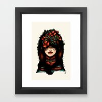 The Girl Who Was Thinkin… Framed Art Print