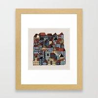 Little Town Framed Art Print