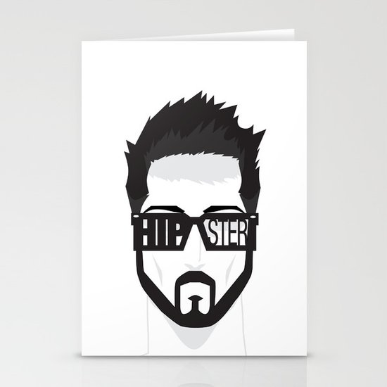 Hipster Stationery Card