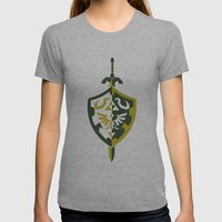 Zelda Womens Fitted Tee Athletic Grey SMALL