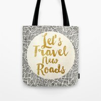 Let's Travel New Roads Tote Bag