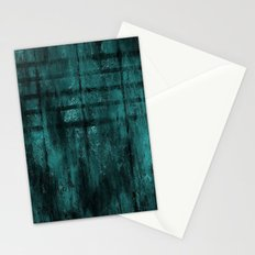 Turquoise Lined Rusted Metal Look Stationery Cards