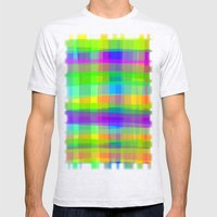 Psychedelic Fabric Textu… Mens Fitted Tee Ash Grey SMALL