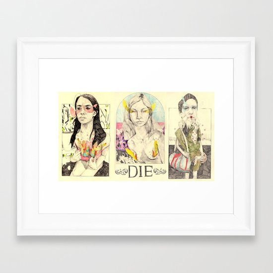 3figuresofdie Framed Art Print