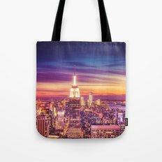 New York City Dusk Sunse… Tote Bag