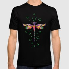 Dragon Fly SMALL Black Mens Fitted Tee
