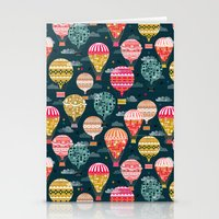 Hot Air Balloons - Retro… Stationery Cards
