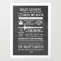 Game Of Thrones - The Ni… Art Print