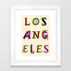 Los Angeles Framed Art Print
