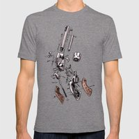 Exploded Gun Mens Fitted Tee Tri-Grey SMALL