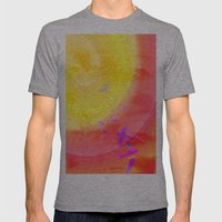 Fly High Mens Fitted Tee Athletic Grey SMALL