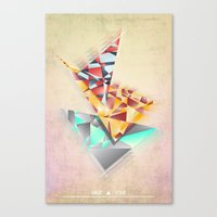 Triangle Rush! Canvas Print