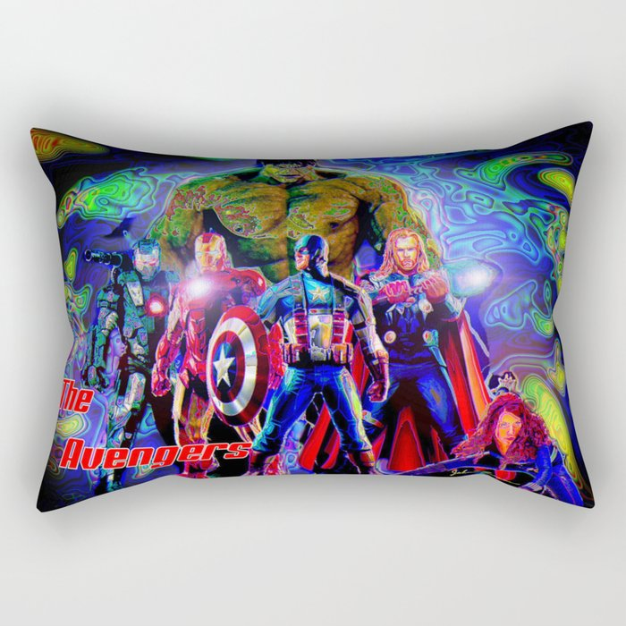 Avengers Rectangular Pillow by JT Digital Art Society6