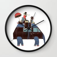 Going By Elephant Wall Clock